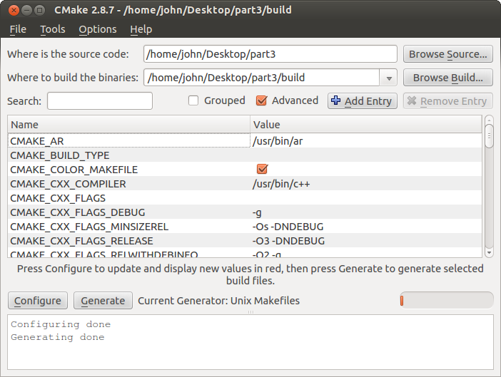 CMake Tutorial - Chapter 3: GUI Tool - JohnLamp netJohnLamp net
